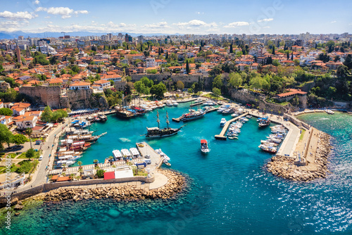 Antalya Harbor, Turkey, taken in April 2019\r\n' taken in hdr Canvas Print