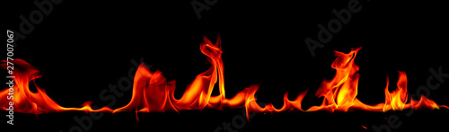 Foto auf AluDibond Feuer / Flamme Fire flames on Abstract art black background