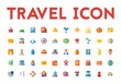Travel Icon Set Flat 32 px