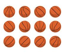 Basketball Ball Animate Spinning Vector Illustration