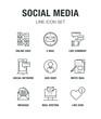 SOCIAL MEDIA LINE ICON SET