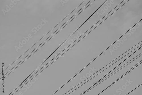 Montage in der Fensternische Darknightsky Power line cable
