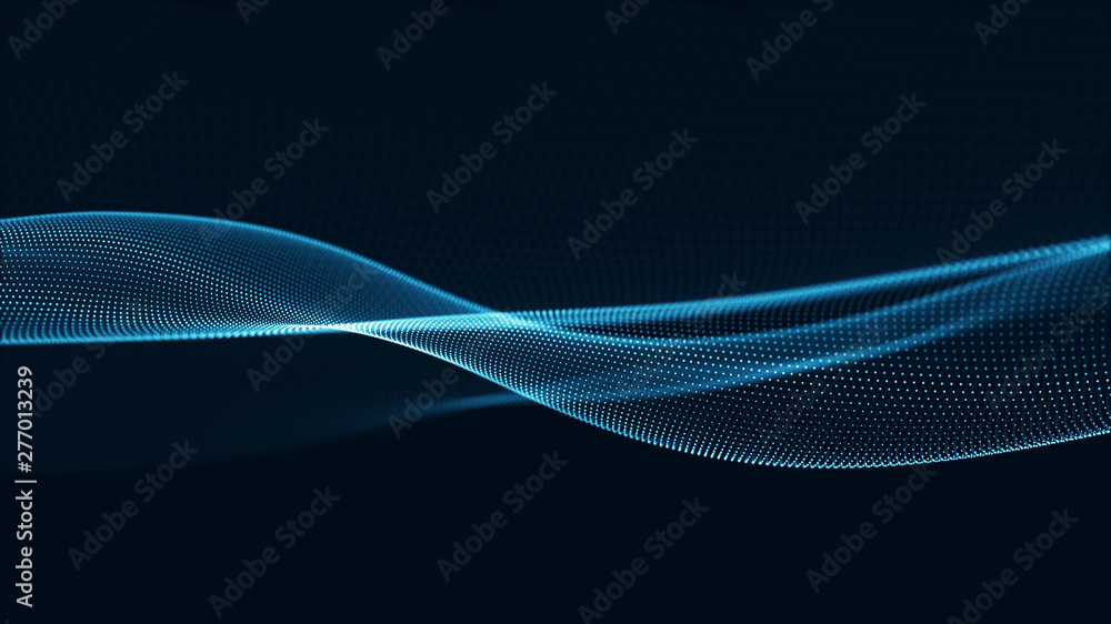 Fototapety, obrazy: Technology digital wave background concept.