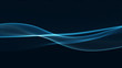 Leinwanddruck Bild - Technology digital wave background concept.