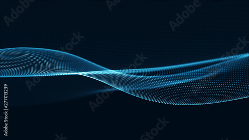 Photo Stands Abstract wave Technology digital wave background concept.
