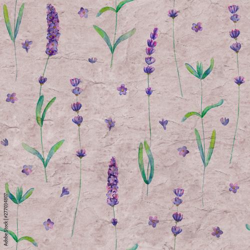 kwiaty-lawendy-akwarela-bezszwowe-wzor-na-szary-fioletowy-kolor-stary-tlo-grunge-papieru