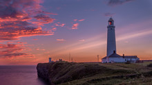 Nash Point Lighthouse At Sunse...