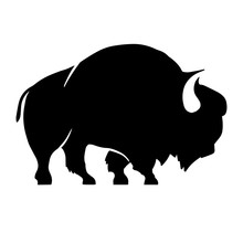 Abstract Silhouette Of Bison ....