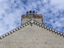 Gable End With Chimney Pots