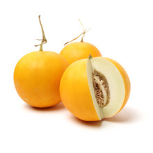 Yellow Honeydew Melons Isolate...