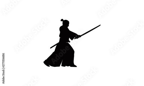 Fotografie, Tablou  ninja samurai logo vector
