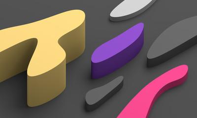 Abstract 3d render, modern ...