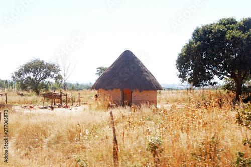 Obraz na płótnie a hut of Shona people