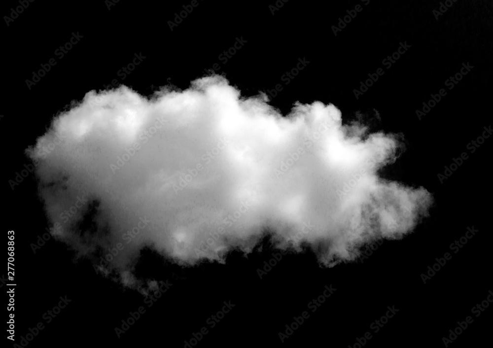 Fototapeta White cloud object for nature design summer background