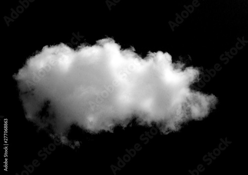 Fototapeta White cloud object for nature design summer background obraz