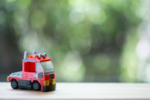 Red Toy Firefighter Car