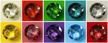 Jewel Tones, Multi Colored Gem...