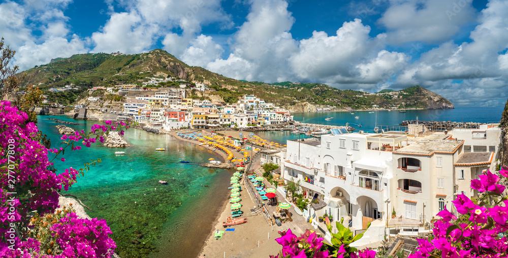 Fototapety, obrazy: Landscape with Sant Angelo village, coast of Ischia, italy