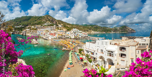 Landscape with Sant Angelo village, coast of Ischia, italy