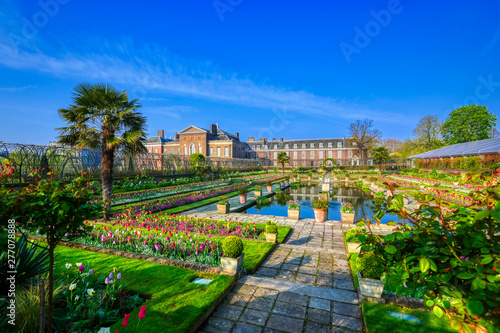 London, United Kingdom - April 17, 2019 : Kensington Palace gardens on a spring morning located in Central London, UK Wallpaper Mural