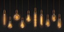 Realistic Light Bulb. Electric...