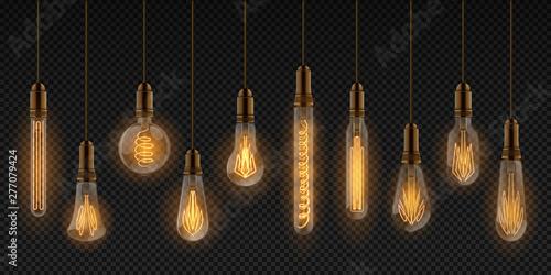 Fototapeta Realistic light bulb