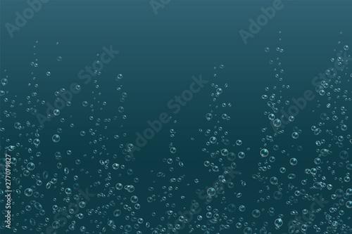 Fényképezés Bubbles underwater texture