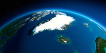 Detailed Earth. Greenland And ...