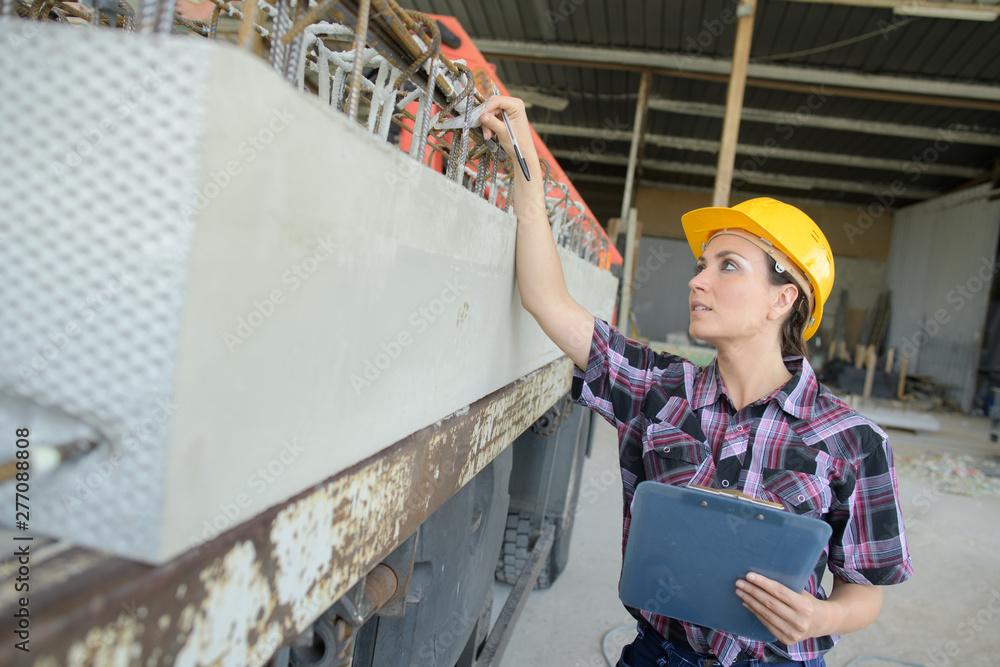 Fototapety, obrazy: female engineer pointing at something
