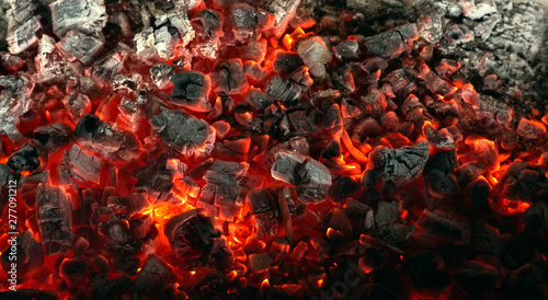 Crédence de cuisine en verre imprimé Texture de bois de chauffage Burning coals from a fire abstract background.