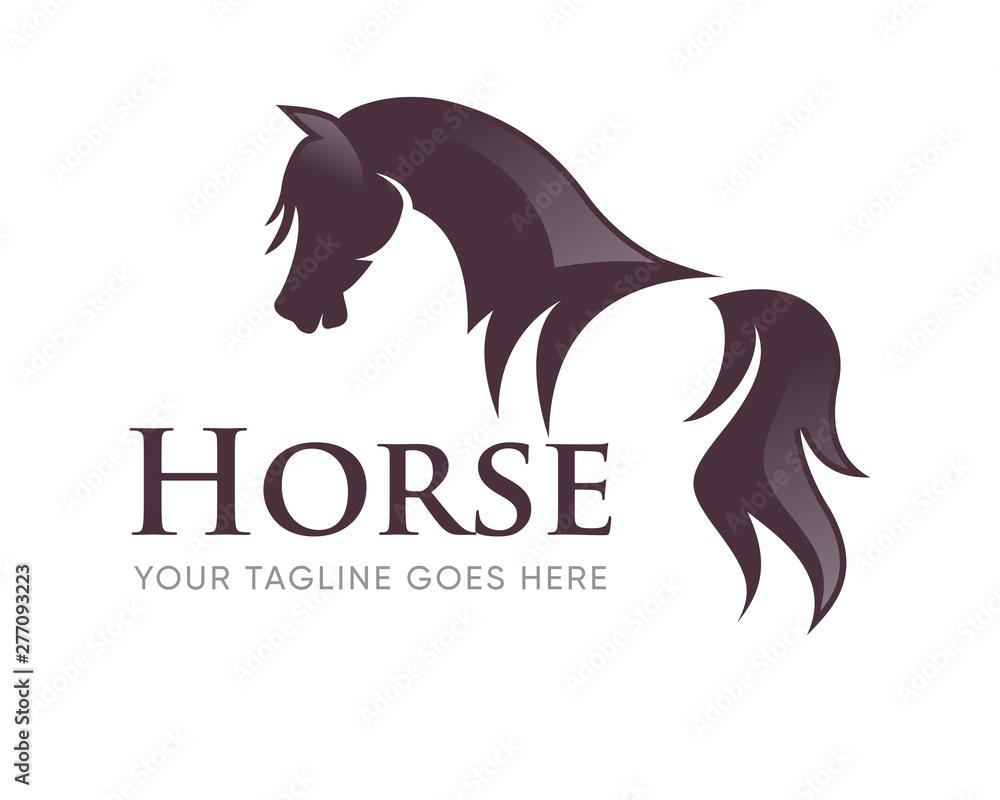 Creative Horse Head Logo Icon Symbol Vector Design Illustration