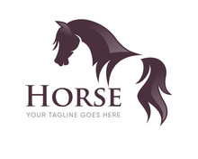 Creative Horse Head Logo Icon ...