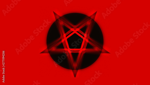Fototapeta  The Pentagram symbol, composed of five, straight lines to form a star