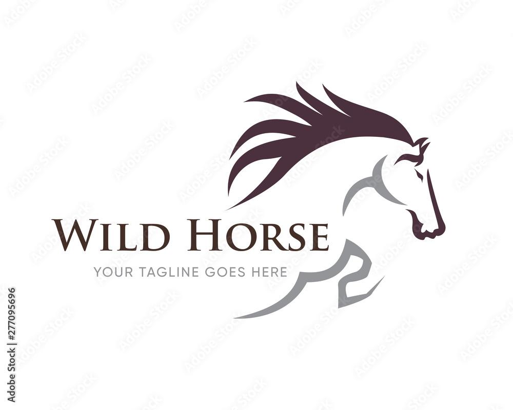 Fototapeta Creative Horse Elegant Logo Symbol Design Illustration Vector for Company
