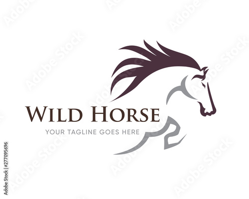 Creative Horse Elegant Logo Symbol Design Illustration Vector for Company Fototapete