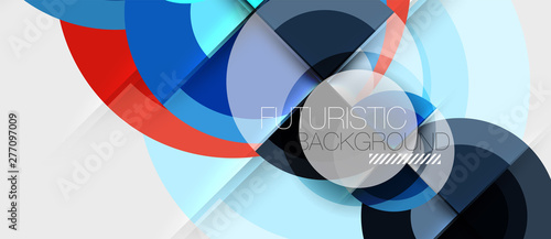 Poster Dogs Geometric design abstract background - circles
