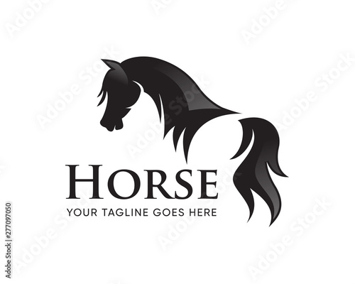 Photographie Creative Horse Head Logo Icon Symbol Vector Design Illustration
