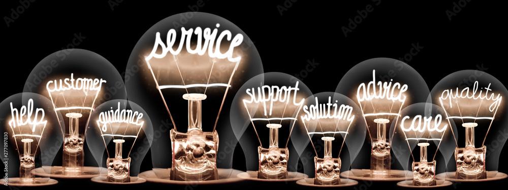 Fototapeta Light Bulbs Concept