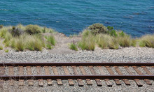 Railroad Tracks At The Pacific...