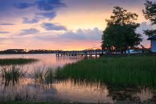 Sunset Over Sugden Regional Park In Naples, Florida