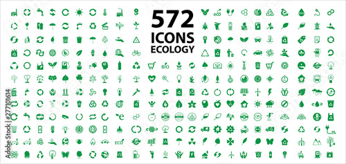 Fototapeta  Set of ecology icons stock vector. Eps 10 vector.