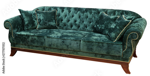 Strange Classic Sofa Isolated On White Background The Back Of The Ocoug Best Dining Table And Chair Ideas Images Ocougorg