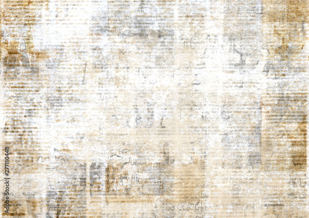 Fototapety, obrazy: Old vintage grunge newspaper paper texture background.