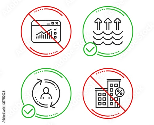 Do or Stop  Evaporation, Web traffic and User info icons