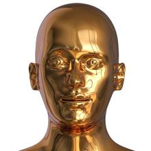 3d Illustration Of Iron Head S...