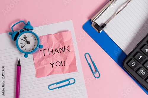 Conceptual hand writing showing Thank You Wallpaper Mural
