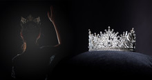 Diamond Silver Crown For Miss ...