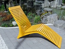 Yellow Modern Metal Outdoor Patio Chair