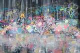 Fototapeta Młodzieżowe - graffiti on a black chalkboard