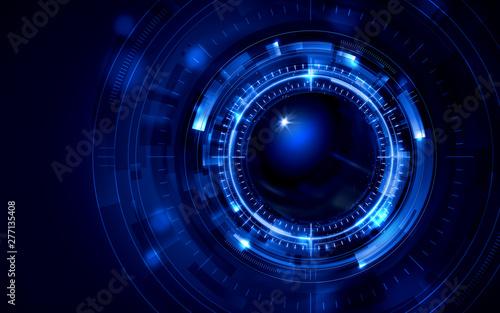 Fotomural イラスト素材: 脳と人工知能イメージ素材青ブルー、AI